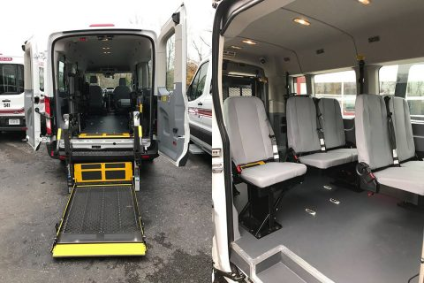 The inside of the new Paratransit Vehicle.