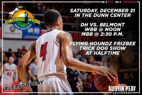 Flying Houndz Frizbee Trick Dog Show to Perform at APSU Basketball Games December 31st