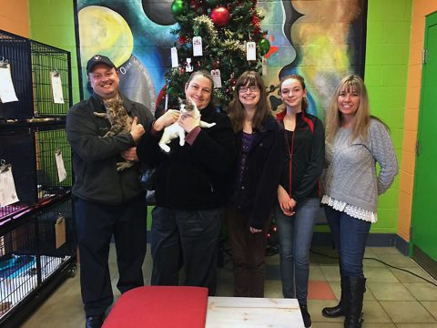 Potvin family donates $2500 to Montgomery County Animal Care and Control.
