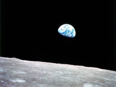 Apollo 8, the first manned mission to the moon, entered lunar orbit on Christmas Eve, Dec. 24, 1968. That evening, the astronauts held a live broadcast from lunar orbit, in which they showed pictures of the Earth and moon as seen from their spacecraft. Possible future technology like solar gravitational lensing may give us pictures of other worlds detailed enough to reveal continents and oceans, like this photo of Earth. (NASA)
