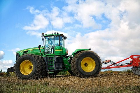 "A JPL-partnership with John Deere led to self-driving tractors long before self-driving cars were a hot topic. The tractors support ""precision agriculture,"" increasing harvest yields and saving farmers seed and fertilizer. (NASA)"