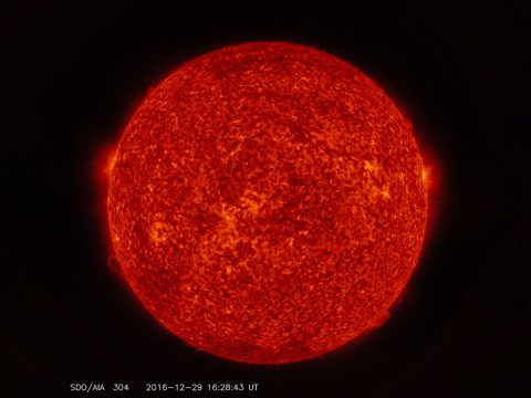 Images from NASA's Solar Dynamics Observatory — such as this one showing the sun as it appears in wavelengths of extreme ultraviolet light — have a time stamp showing Universal Time on it. To maintain accuracy, SDO will join official clocks around the world in adding a leap second on Dec. 31, 2016. (NASA/SDO)