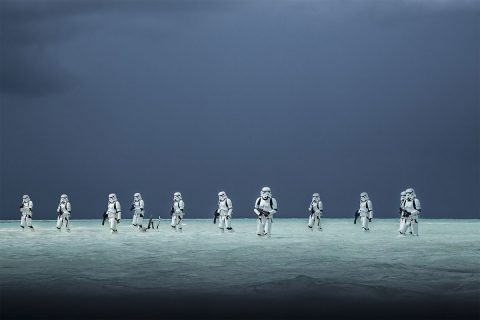 "Stormtroopers in the new Star Wars film ""Rogue One"" wade through the water of an alien ocean world. NASA scientists believe ocean worlds exist in our own galaxy, along with many other environments. (Disney/Lucasfilm Ltd. & TM.)"