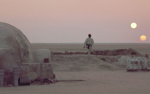 Astronomers have found planets with double sunsets like Tatooine in our galaxy. (Lucasfilm Ltd. & TM.)