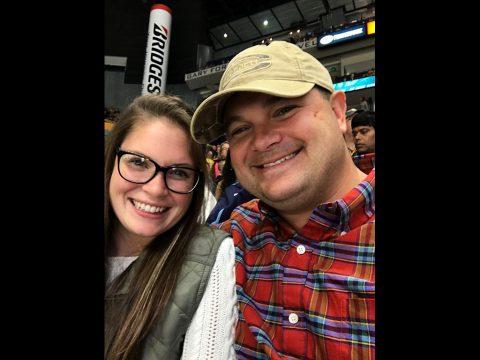 James Rogers and his girlfriend of three years, Rachel Cunningham.