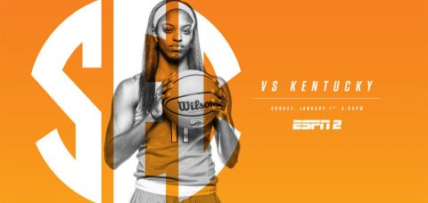 Tennessee Women's Basketball will open SEC play against #17/23 Kentucky at 3:00pm CT on Sunday at Thompson-Boling Arena January 1st, 2017. (Tennessee Athletics Department)