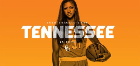 #22/25 Tennessee will take on #4/4 Baylor Sunday at 1:00pm CT in the SEC/Big 12 Challenge at Thompson-Boling Arena.