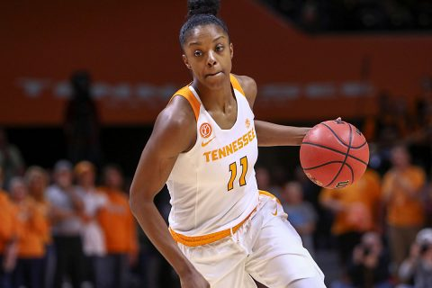 Tennessee Lady Volunteers guard Diamond DeShields (11) brings the ball up court against the Baylor Bears during the first half at Thompson-Boling Arena. Baylor won 88 to 66. (Randy Sartin-USA TODAY Sports)