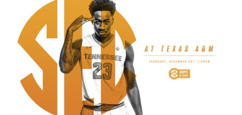 Tennessee and Texas A&M open SEC play Thursday night at 6:00pm CT on the SEC Network. (Tennessee Athletics Department)