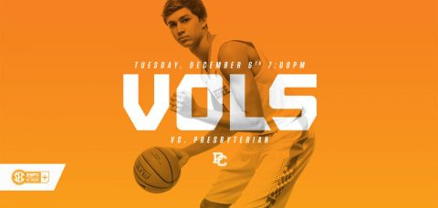 Tennessee hosts the Blue Hose on Tuesday night at 6:00pm CT. (Tennessee Athletics Department)