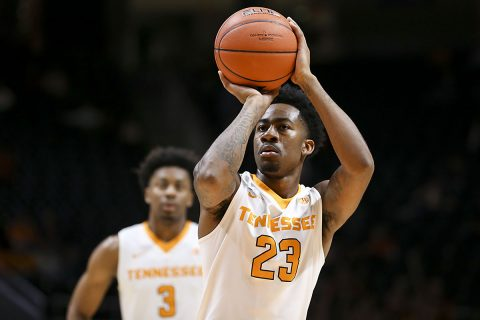 Guard Jordan Bowden #23 of the Tennessee Volunteers during the game between the Presbyterian Blue Hose and the Tennessee Volunteers at Thompson-Boling Arena in Knoxville, TN. (Craig Bisacre/Tennessee Athletics)