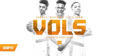 Tennessee plays its first true road game of the season Sunday against North Carolina at 4:00pm CT on ESPN. (Tennessee Athletics Department)