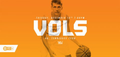 Tennessee hosts the Golden Eagles Tuesday at 6:00pm on the SEC Network. (Tennessee Athletics Department)