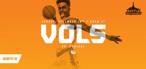 Tennessee and Gonzaga tip-off at 3:00pm CT at Bridgestone Arena in downtown Nashville Tennessee.
