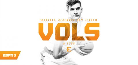 Tennessee Vols Thursday's game will be televised locally in East Tennessee on MyVLT in Knoxville and WEMT Fox in the Tri-Cities. (Tennessee Athletics Department)