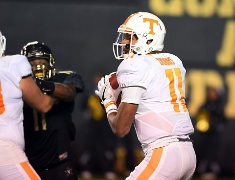 Tennessee Volunteers quarterback Joshua Dobbs. (Christopher Hanewinckel-USA TODAY Sports)