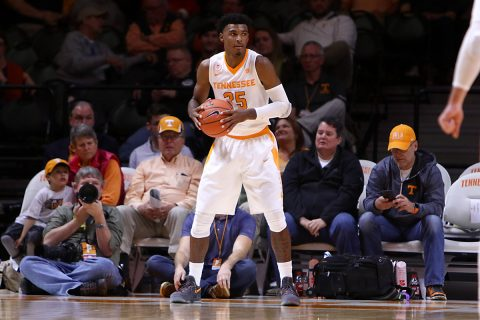 Tennessee Volunteers guard Shembari Phillips (25) during the second half against the Georgia Tech Yellow Jackets at Thompson-Boling Arena. (Randy Sartin-USA TODAY Sports)