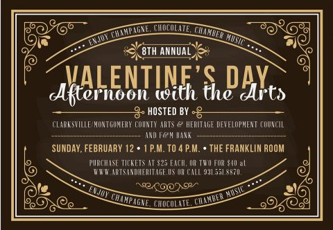 Eighth annual Valentine's Day Afternoon with the Arts to be held Sunday, February 12th.