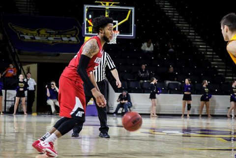 Austin Peay Men's Basketball falls to Tennessee Tech Golden Eagles 76-67 Thursday night. (APSU Sports Information)