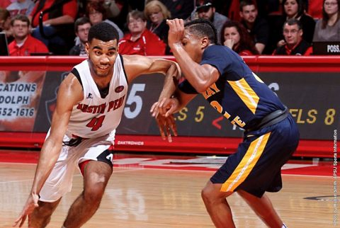 Austin Peay Men's Basketball takes down Murray State Saturday night at the Dunn Center. (APSU Sports Information)