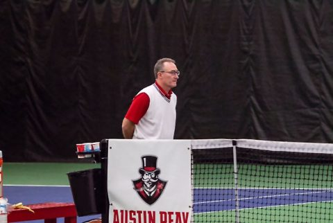 Austin Peay Men's Tennis loses 7-0 at Tennessee Vols, Monday. (APSU Sports Information)