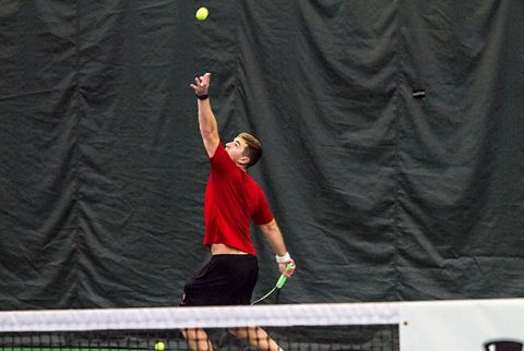 Austin Peay Men's Tennis falls to George Washington Friday at the APSU Indoor Tennis Courts. (APSU Sports Information)