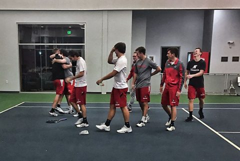 Austin Peay Men's Tennis beats Chattanooga 4-2 Saturday night. (APSU Sports Information)