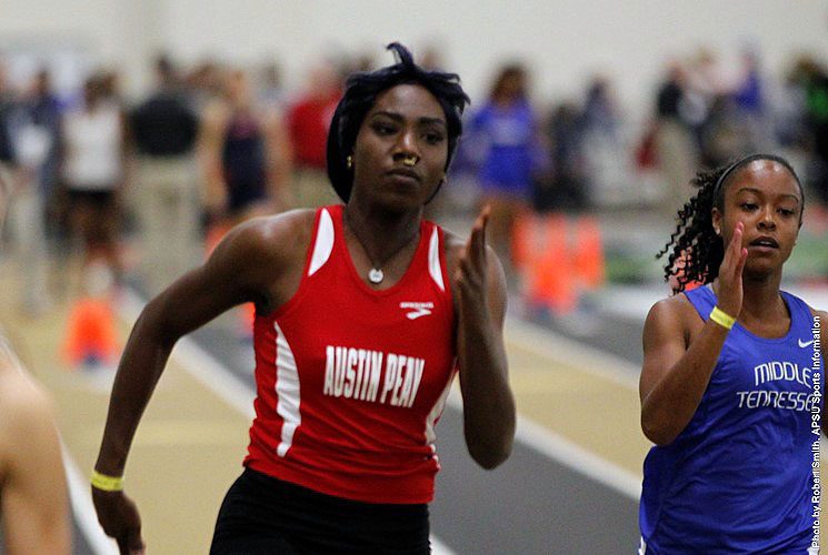 Austin Peay Women's Indoor Track and Field has strong outting at Marshall's Thundering Herd Invitational Saturday. (APSU Sports Information)