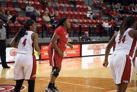 Austin Peay Women's Basketball losses at Jacksonville State, 65-45. (APSU Sports Information)
