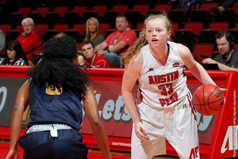 Austin Peay Women's Basketball beats Murray State 75-63 at the Dunn Center Saturday afternoon. (APSU Sports Information)