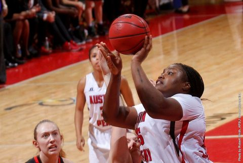 Austin Peay senior center Tearra Banks has 24 points and eight rebounds in 84-74 win over Southeast Missouri at the Dunn Center Saturday. (APSU Sports Information)