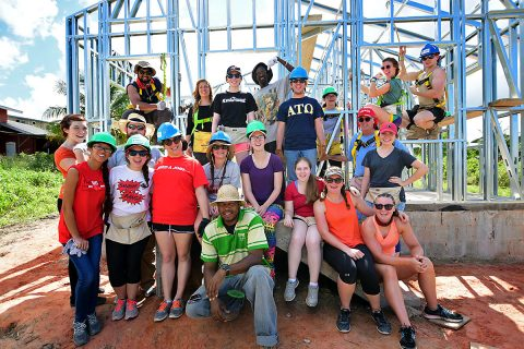 APSU Students spent Winter Break in Trinidad and Tobago doing volunteer work.