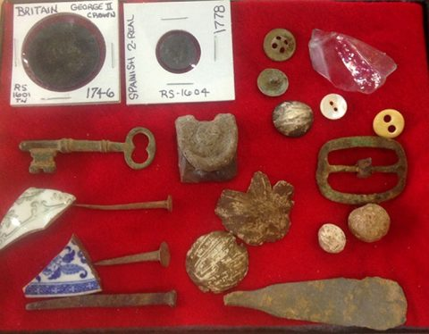 Artifacts found at Renfroe Station/Fort Union site
