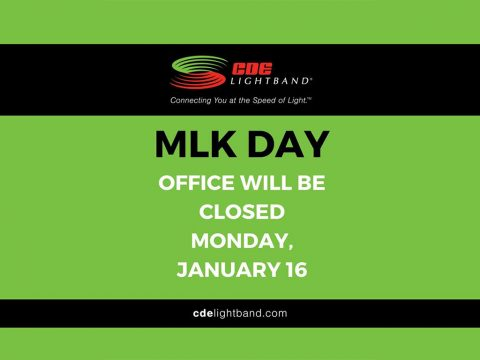 CDE Lightband to close Monday, January 16th for Martin Luther King Jr. Day
