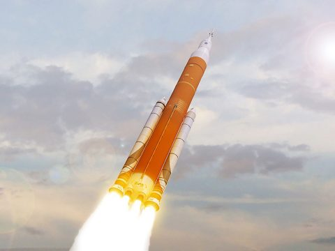 The SLS is an advanced, heavy-lift rocket that will provide an entirely new capability for science and human exploration beyond Earth's orbit. (NASA)