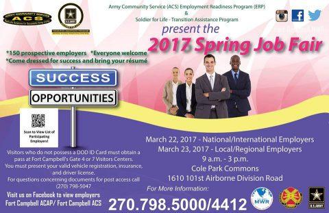 Spring Job Fair at Fort Campbell