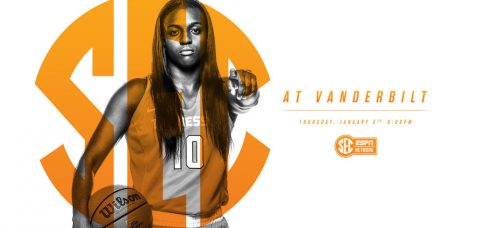 Tennessee Women's Basketball (9-4/1-0 SEC) hits the road after five straight games at home, taking on Vanderbilt (10-4/0-1 SEC) in Nashville on Thursday night. (Tennessee Athletics Department)