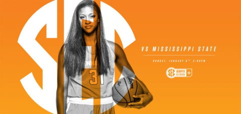 Tennessee Lady Vols takes on Mississippi State Bulldogs Sunday at 1:00pm CT at Thompson-Boling Arena. (Tennessee Athletics Department)