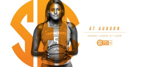 Tennessee returns to conference play and heads on the road for a Thursday match-up at Auburn. Tip is slated for 6:02pm CT at Auburn Arena. (Tennessee Athletics Department)