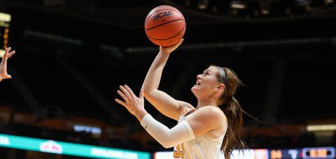 Tennessee junior guard Alexa Middleton posted 19 points and seven assists in Lady Vols rout over Vanderbilt Sunday. (Tennessee Athletics Department)