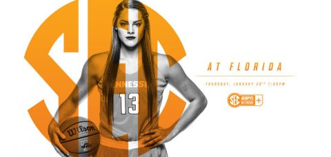 Tennessee Women's Basketball heads to the Sunshine State to take on Florida Gators Thursday night, January 26th, 2017. (Tennessee Athletics Department)