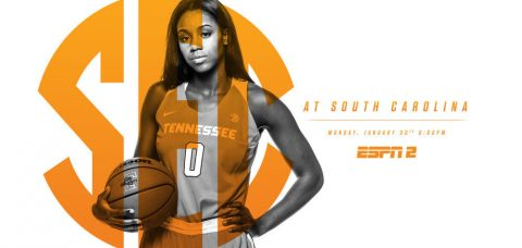 Tennessee Lady Vols travel to South Carolina to play the Gamecocks late Monday afternoon. (Tennessee Athletic Department)