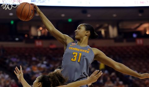 Tennessee Lady Volunteers guard/forward Jaime Nared (31) scores a career-high 23 points along with seven rebounds against Ole Miss Thursday night. (Sean Pokorny-USA TODAY Sports)