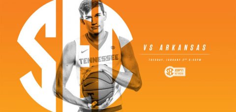Tennessee Men's Basketball game against Arkansas is set for a 5:30pm CT tipoff on SEC Network. (Tennessee Athletics Department)