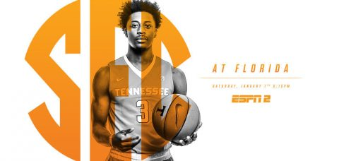 Tennessee Vols at Florida's tip-off Saturday in Gainesville is set for 4:15pm CT on ESPN2. (Tennessee Athletics Department)