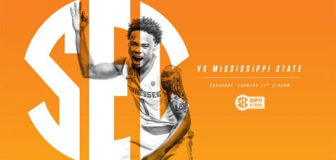 The Tennessee Volunteers and Mississippi State Bulldogs meet Saturday night at 4:00pm CT at Thompson-Boling Arena. The game will be broadcasted on the SEC Network. (Tennessee Athletics Department)