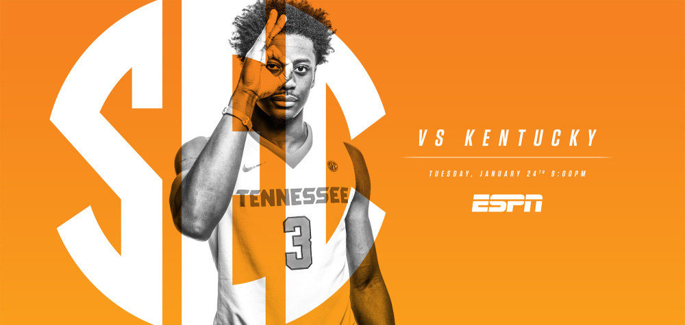 The 221st meeting between the Tennessee Vols and Kentucky Wildcats airs on ESPN's Super Tuesday at 8:00pm CT. (Tennessee Athletics Department)