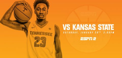 Saturday's SEC/Big 12 Challenge game between Tennessee Vols and Kansas State tips off at 1:00pm CT on ESPN2. (Tennessee Athletics Department)