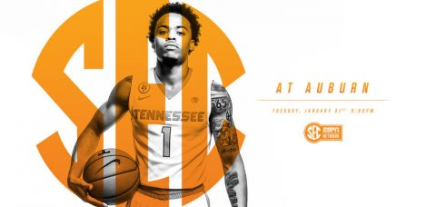 Tuesday night's tip from Auburn Arena is set for 8:00pm CT on SEC Network. (Tennessee Athletic Department)