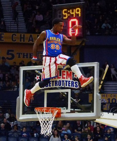 This is how you walk like a Globetrotter.